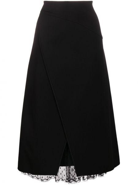 Ażurowy czarny asymetryczny spódnica z wiskozy Givenchy