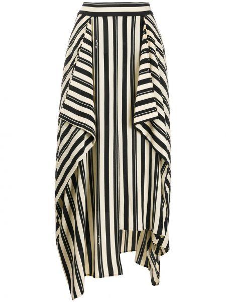 Spódnica maxi asymetryczna w paski bawełniana Loewe