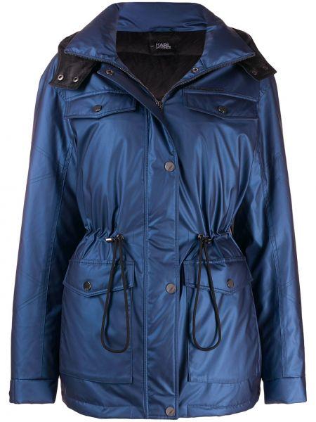 Куртка с капюшоном на молнии с карманами Karl Lagerfeld