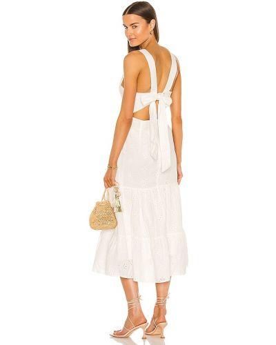 Льняное домашнее бежевое платье макси Bardot