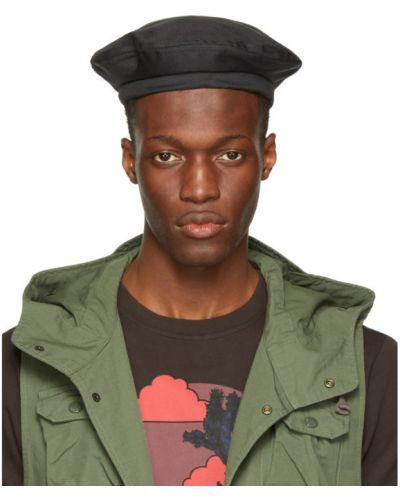 Czarny beret bawełniany Engineered Garments