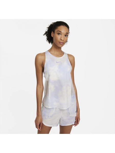 Fioletowy t-shirt bez rękawów miejski Nike