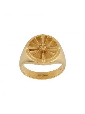 Złoty pierścionek pozłacany Northskull