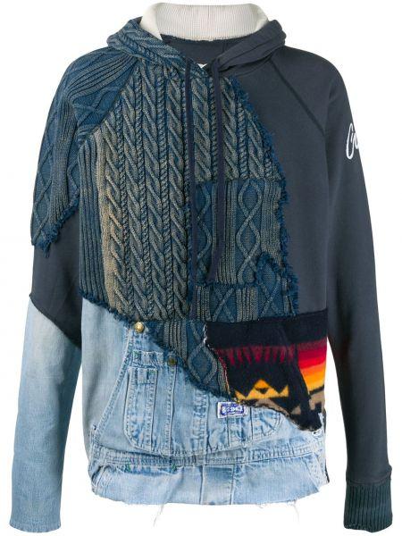 Niebieskie jeansy bawełniane z długimi rękawami Greg Lauren