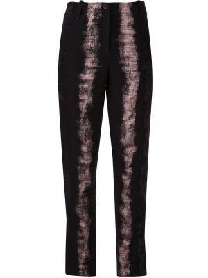 Шерстяные черные брюки с карманами Masnada