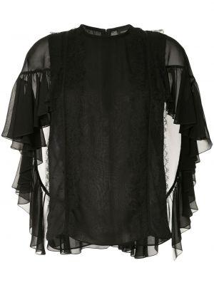 Шелковая блузка - черная Giambattista Valli