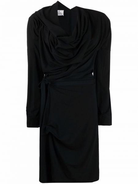 Платье макси с длинными рукавами - черное Vivienne Westwood