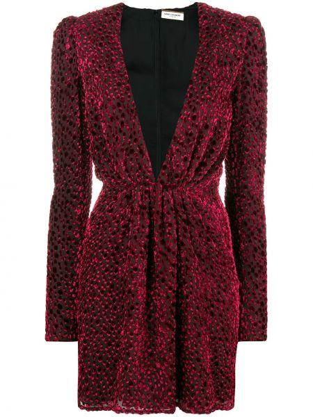 Платье с V-образным вырезом приталенное Saint Laurent