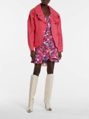 Хлопковая ватная розовая куртка Isabel Marant