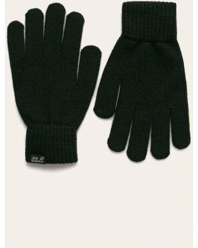 Кожаные перчатки акриловые черные Jack Wolfskin