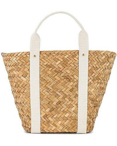 Beżowa torebka bawełniana Kayu