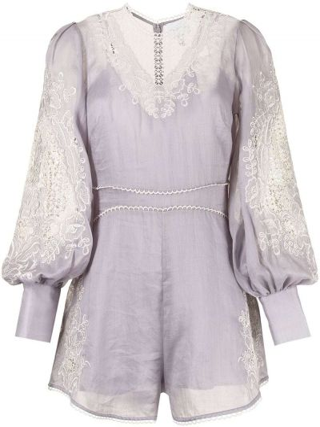 Фиолетовый кружевной комбинезон Alice Mccall