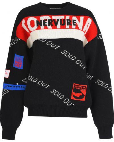 Черный свитер Nervure