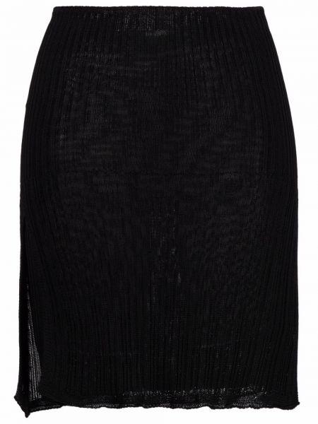 Черная юбка мини из вискозы Laneus