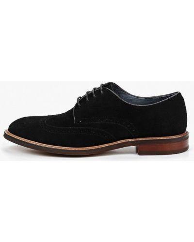 Туфли черные замшевые Paolo Conte