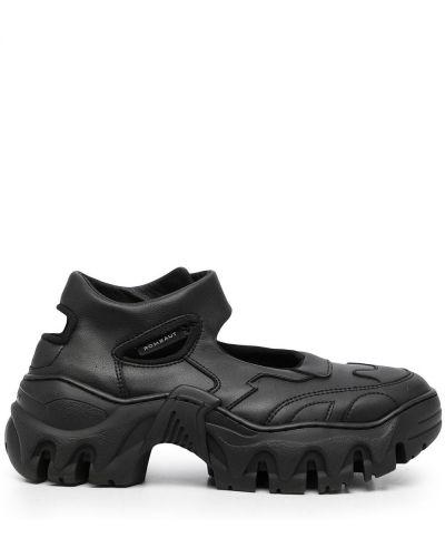 Czarne buty sportowe skorzane Rombaut