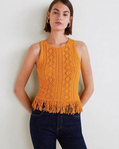 Оранжевый топ Mango
