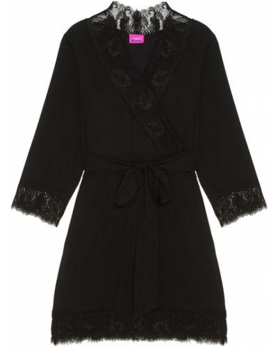 Нейлоновый кружевной черный халат L'agent By Agent Provocateur
