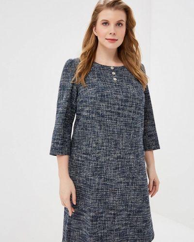 Повседневное платье осеннее синее Borboleta
