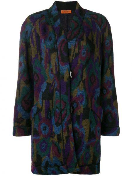 Прямое шерстяное пальто с рукавом реглан на пуговицах Missoni Pre-owned