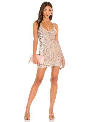 Платье с пайетками - золотое Retrofete
