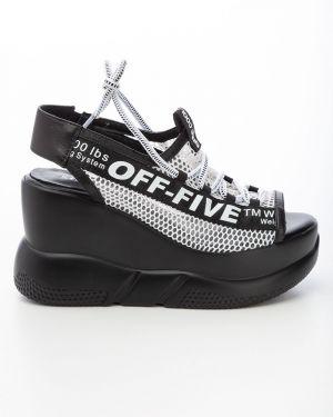 Повседневные текстильные черные туфли Sidestep