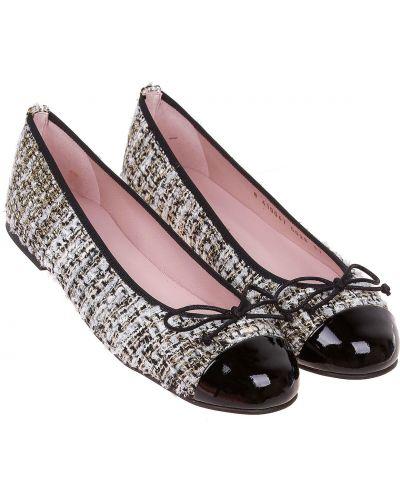 Черные кожаные туфли Pretty Ballerinas