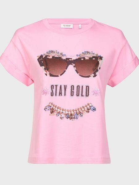 Хлопковая футболка - розовая Rich & Royal