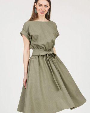 Платье миди зеленый оливковый Olivegrey