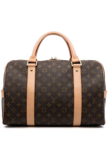 Brązowa torba podróżna skórzana Louis Vuitton
