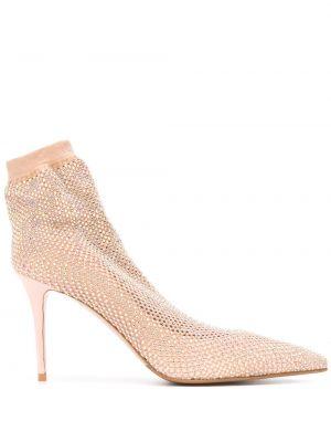 Кожаные носки без застежки с сеткой на каблуке Le Silla