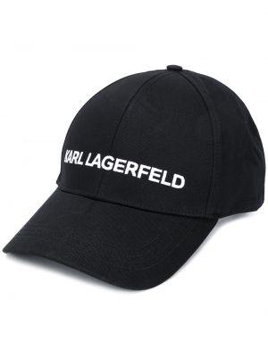 Кепка черная с логотипом Karl Lagerfeld