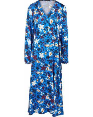 Синее платье из вискозы Marc O`polo