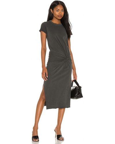 Czarna sukienka bawełniana Nsf