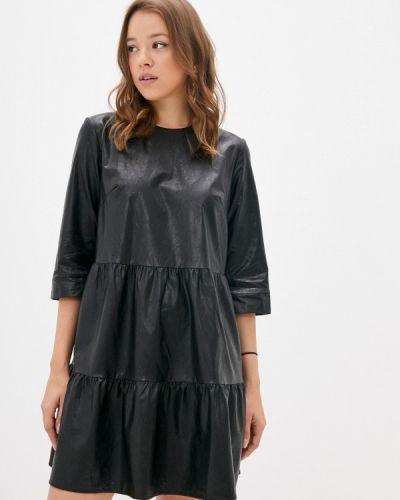 Черное кожаное платье Lime