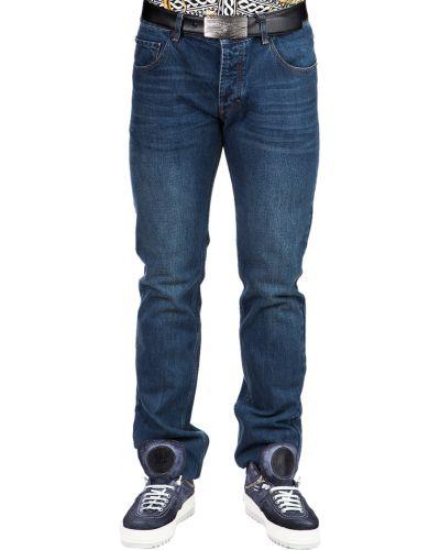 Хлопковые джинсы - синие Prada