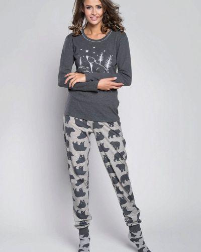 Пижама серая пижамный Italian Fashion