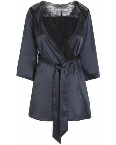 Шелковый халат - черный L'agent By Agent Provocateur