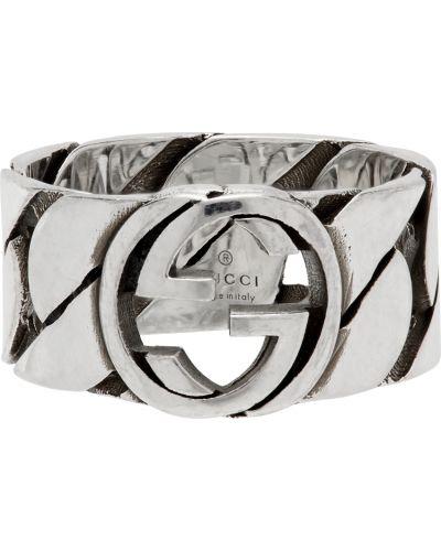 Pierścionek srebrny Gucci
