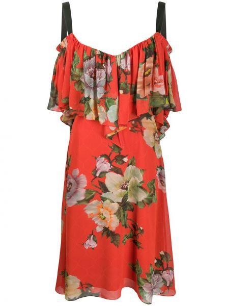 Платье мини миди с цветочным принтом Preen By Thornton Bregazzi