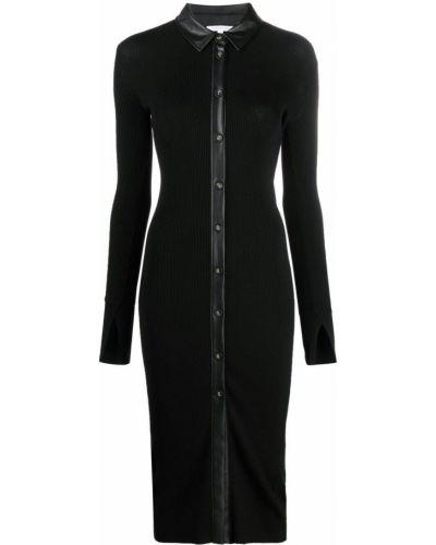 Платье миди с длинными рукавами - черное Patrizia Pepe