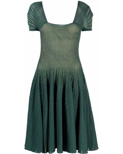 Зеленое платье из вискозы Emporio Armani