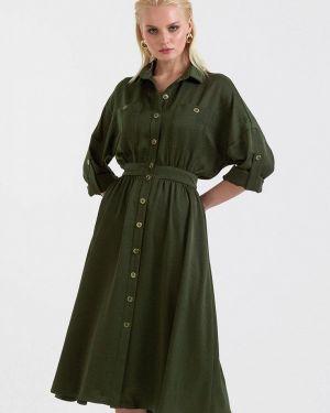 Платье платье-рубашка зеленый Lova