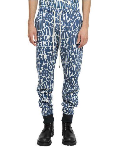 Niebieskie spodnie Lanvin