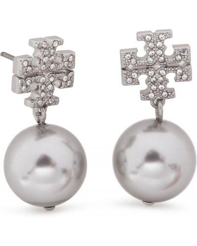 Kolczyki z perłami kolczyki ze sztyftem metal Tory Burch