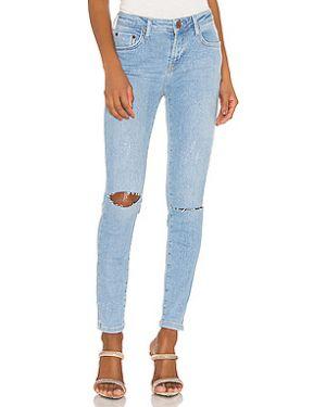 Потертые джинсы-скинни на пуговицах с пайетками One Teaspoon