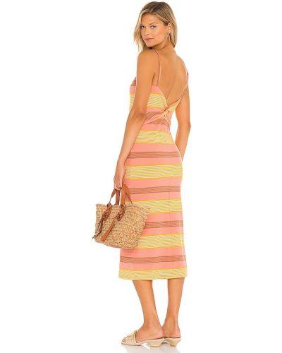 Желтое платье на бретелях L*space