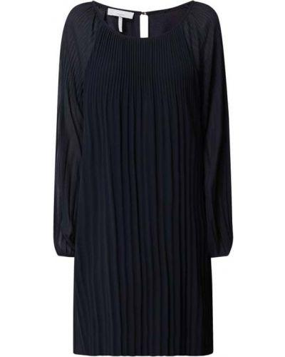 Sukienka rozkloszowana z długimi rękawami - niebieska Cinque
