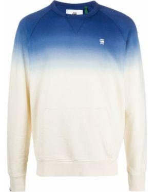 Хлопковый синий свитер с круглым вырезом круглый G-star Raw
