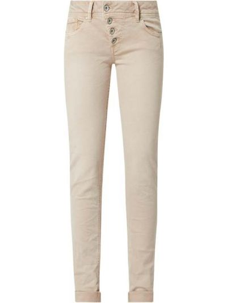 Beżowe jeansy bawełniane Buena Vista